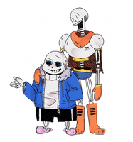 Sans and Pap by DopeDerp