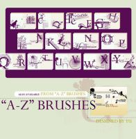 A-Z brushes by yu-resource