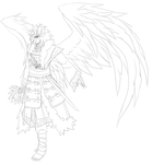 Madara Karasu Tengu costume design (AU( by FireEagleSpirit