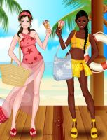 Summertime Girls: Catherine and Stephanie by TheEyeShield
