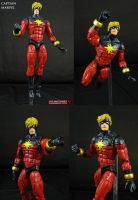 Custom Marvel Legends Captain Marvel figure by Jin-Saotome