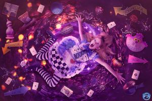 Falling to Wonderland by Renata-s-art