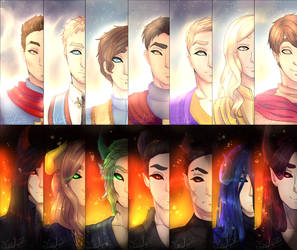 Seven Archangels and Seven Archdemons by FeeX123