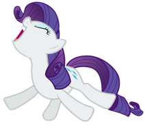 Rarity flailing her hooves with excitement by Tardifice