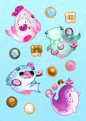 Sea Creatures and Donuts 2 by The-Virgo-Fairy