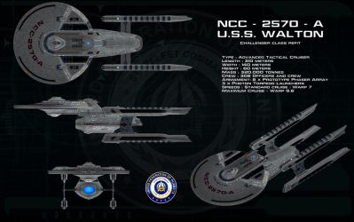 Challenger class Refit ortho - USS Walton by unusualsuspex