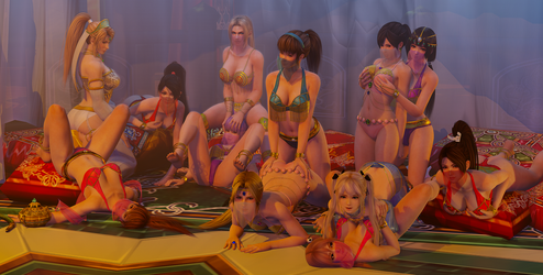 DOA Dead or Alive Harem by RadiantEld