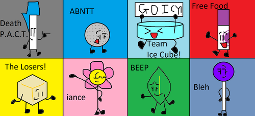 Second favorite BFB characters on each team by cooljohn721