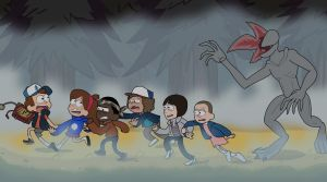 Stranger Things in Gravity Falls by LJBlueFox