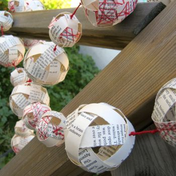 Paper Ball Garland - Recycled by EccentricOcean