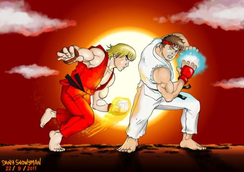 Ryu vs Ken by DanySnowyman