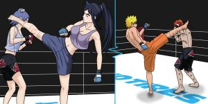 Double Team Kick by Silent-Shanin