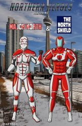 Northern Heores: Major North + North Shield by artBKM