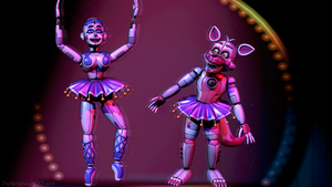 Ballora teaches Funtime Foxy [C4D/FNAF] by TheSpringYanaWOO