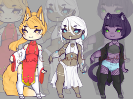 Adoptables [OPEN] 2/3 by LavelleArts