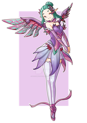 Commission for bsdthings - Sugar Plum Fairy Mercy by MadamMeatball