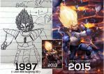 Draw this again 1997 vs 2015 Dragon Ball by magion02