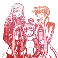 SFR - Richard, Sophie, and Asbel by Sora-G-Silverwind