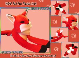Red Fox Noms Plushie Hat by AnimeNomNoms