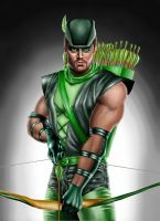 Stephen Amell as Green Arrow by johnarmstrong17