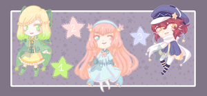 [Auction 500 pts SB] Starry Adopts [2/3 OPEN] by Wila-Chan