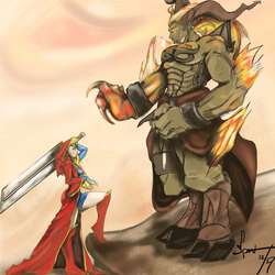 Kara, Buster and Ifrit by spontaneousOD