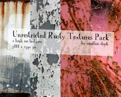 Unrestricted Rusty Texture Pack by emothic-stock