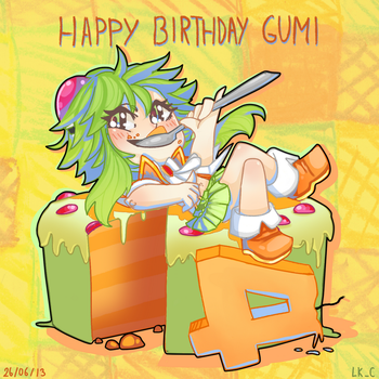 HAPPY 4TH BIRTHDAY GUMI by LuckyXClover