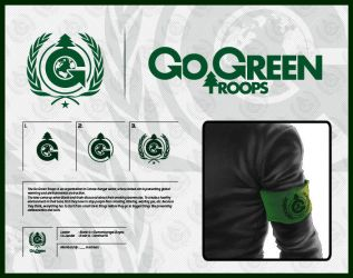 CR - Go Green Troops - Logo by ajiraiya