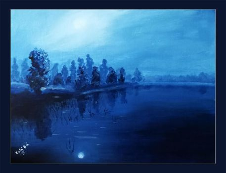 Night at the lake by Galadriel34