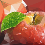 Abstract Art : Fruits : Apple by kenkchow