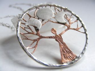 Triple Mother Goddess Tree by MoonLitCreations