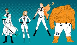 Project : Rooftop - Fantastic Four redesign by anklesnsocks