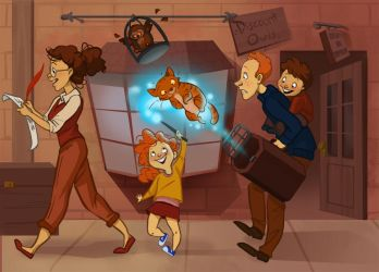 The Weasley's at Diagon Alley by TwiggyMcBones