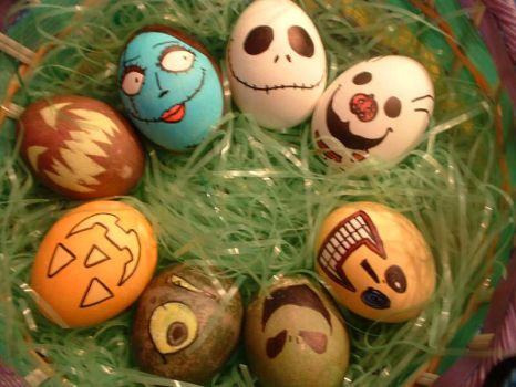 Halloween Eggs by Red-Flare