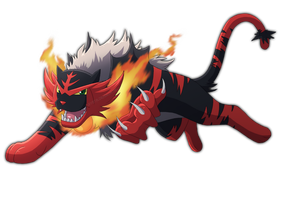 Incineroar -quadruped version-