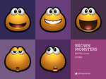 Brown Monsters by hopstarter