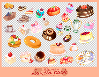 sweets pack 30 png's by 18arqan