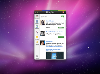 Google+ Mac App Concept by GlasKoenig201