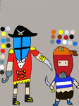 Pirate Knight Color Reference by LuigiFan00001