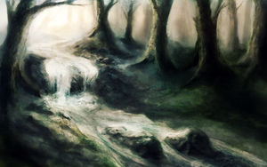 Forest and the river by psiipilehto