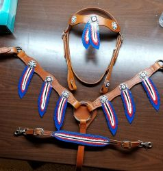 Feather Tack Set by CanisLeather