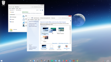 Windows 7 Space - invisible taskbar theme by Dave2399