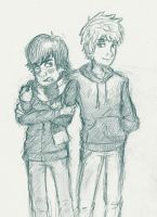 Hiccup and Jack by little-ampharos