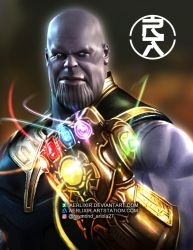 Mad Titan Thanos by aerlixir