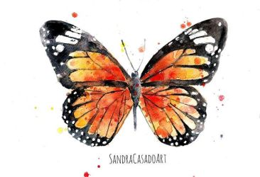 Butterfly watercolor by Fayland