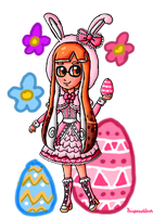 Easter bunny Inkling by ninpeachlover