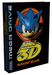 3D Mega Drive Case - Sonic 3D by SJWebster