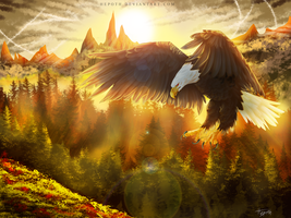 Flight + Speed Painting by Hepoth