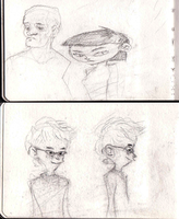 sketchbook - two per page by HylianMogget